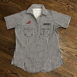Houndstooth Alabama Columbia shirt size S/P